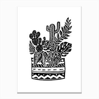 Botanical Pot Canvas Print