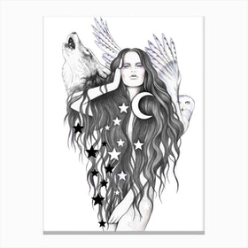 Moon Witch Canvas Print