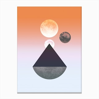 Moon Triangle Canvas Print
