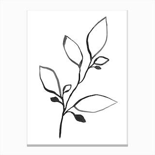 Ink Plant 1 Canvas Print
