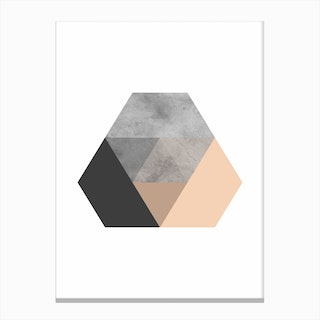 Stone Layered Abstract Canvas Print