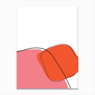My Orange Art Canvas Print