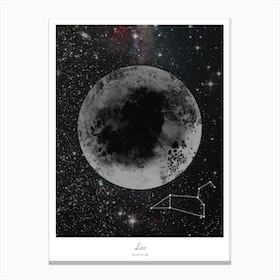 Leo Horoscope Canvas Print