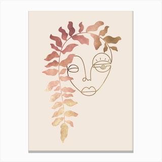 Lady Bloom Canvas Print