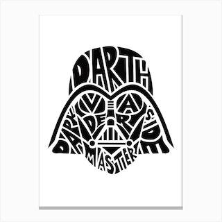 Dafth Vader Canvas Print