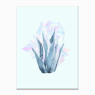 Holographic Succulent Canvas Print