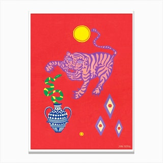 Tiger And Snake Canvas Print