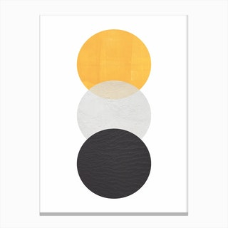 Abstract Yellow Grey and Black Canvas Print