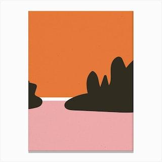 Beach Abstract Sunset Canvas Print