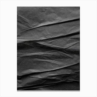 Black Paper Mountains Canvas Print