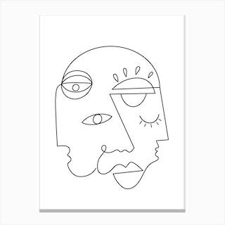 Hidden Personas Canvas Print
