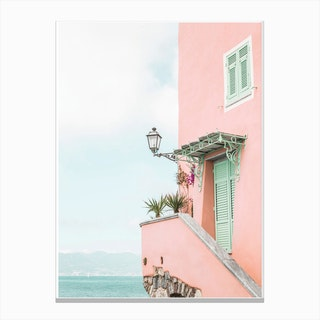 Pink House Photo Canvas Print