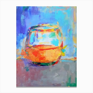 Whiskey Glass Canvas Print