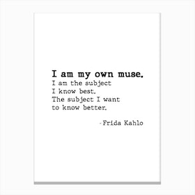 Muse By Frida Kahlo Canvas Print