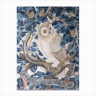 Owl Embroidery, George Jack Stitched By Annie Jack Canvas Print