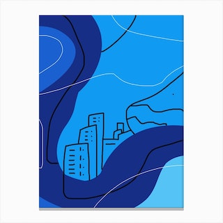 Town Of Thoughts Canvas Print