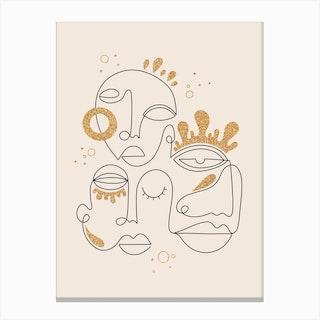 The Golden Connection Canvas Print