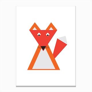 Fox Triangle Illustration Canvas Print
