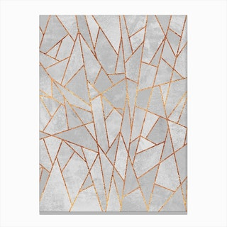 Shattered Concrete Canvas Print