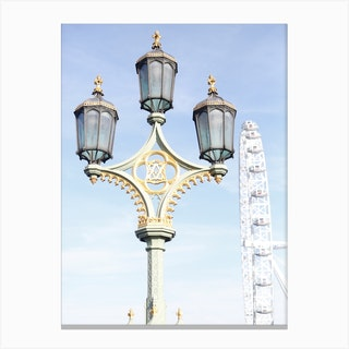 Blue Sky London Eye Canvas Print