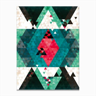 Bohemian Kilim Triangles Canvas Print