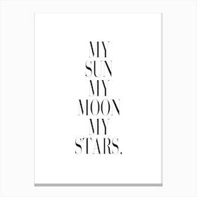 My Sun Canvas Print