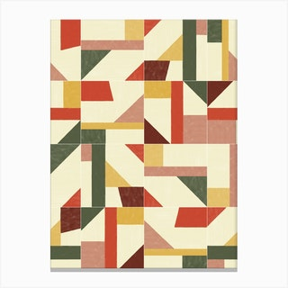 Tangram Wall Tiles 02 Canvas Print