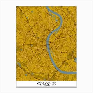Cologne Yellow Blue Canvas Print