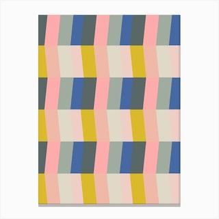 Vertical Chevron In Pink 1 Canvas Print