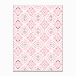 Boho Shibori Pink Canvas Print