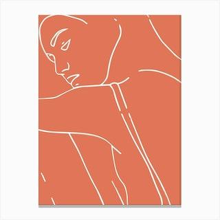 Woman Outline 1 Canvas Print
