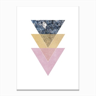 Three Layered Triangles Canvas Print