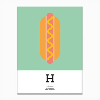The Food Alphabet – H Canvas Print