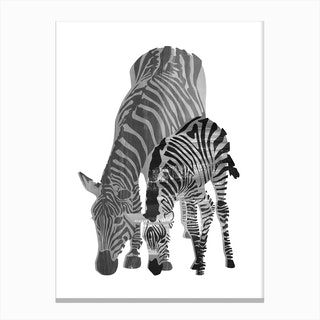 Striped Love II Canvas Print
