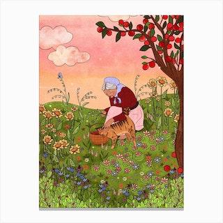 Garden Love Canvas Print