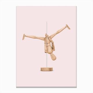 Pole Dance Mannequin Canvas Print