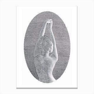 Noise Black & White Canvas Print