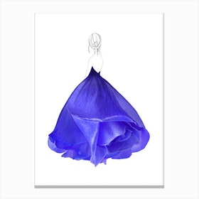 Fashion Blue Rose Canvas Print