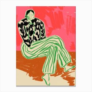 Calm Woman Portrait Canvas Print