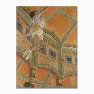 Miss La La At The Cirque Fern, Hilaire-Germain-Edgar Degas Canvas Print