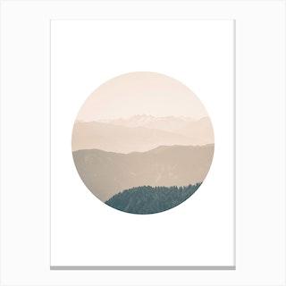 Landscapes Circular 4 Karwendel Canvas Print