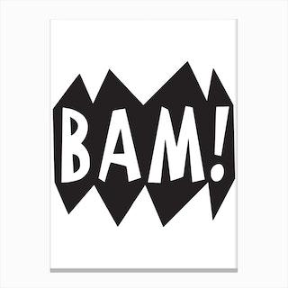 Bam Superhero Canvas Print