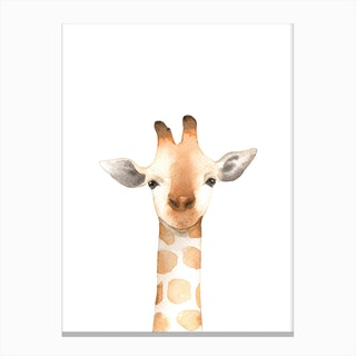 Nursery Giraffe Canvas Print