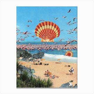 Flamingo Heat Canvas Print