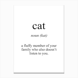 Cat Meaning Canvas Print