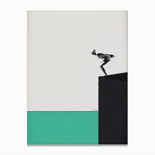 Dive Into The Minimal Canvas Print