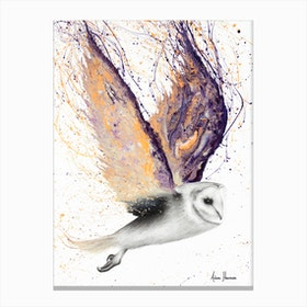 Opal Winged Owl Canvas Print