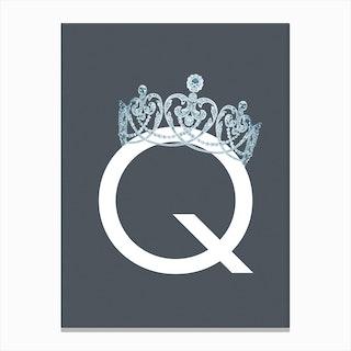Q Queen Canvas Print