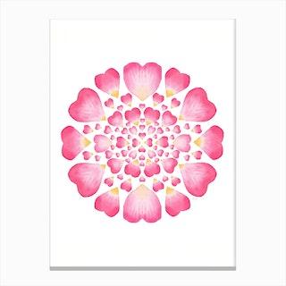 Target L.O.V.E Pink Canvas Print