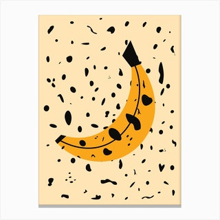 Bananas Square Canvas Print